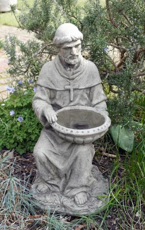 Photo of Saint Francis of Assisi Stone Birdbath 52 cm