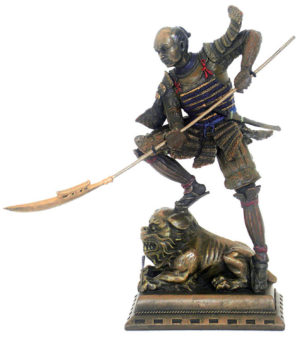 Photo of Samurai Castle Defender Bronze Figurine