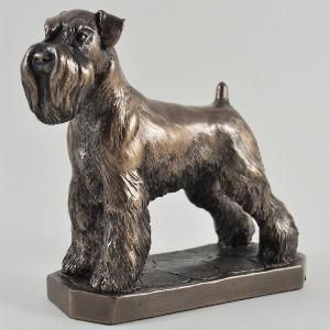 Photo of Schnauzer Bronze Dog Sculpture (David Geenty)