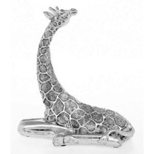 Photo of Silver Giraffe Lying Figurine