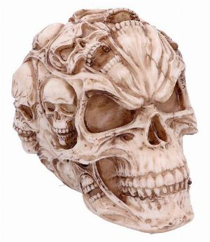 Small Red Solid Clear Resin Skull Ornament Figurine Figure