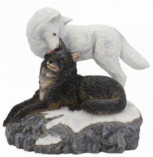 Photo of Snow Kisses Wolf Figurine (Lisa Parker)