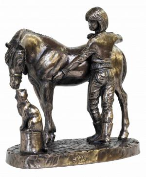 Photo of Stable Friends Bronze Ornament