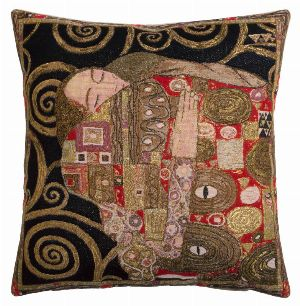 Phot of The Accomplishment By Gustav Klimt Tapestry Cushion I