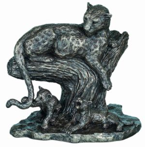 Photo of The Open Plains African Big Cat Bronze Figurine Large