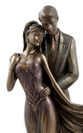 Photo of Together Forever Bronze Figurine with Frame 31 cm
