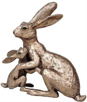 Photo of Tulip and Thimble Hare Bronze Sculpture (Thomas Meadows)