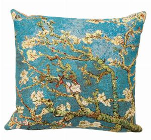 Phot of Van Gogh Almond Tree Tapestry Cushion