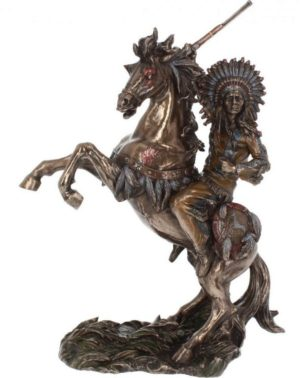 Photo of War Cry Bronze Figurine 33 cm