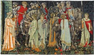 Phot of William Morris Quest For The Holy Grail Wall Tapestry