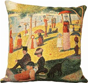 Phot of A Sunday Afternoon On The Island Of La Grande Jatte By Georges Seurat Tapestry Cushion I