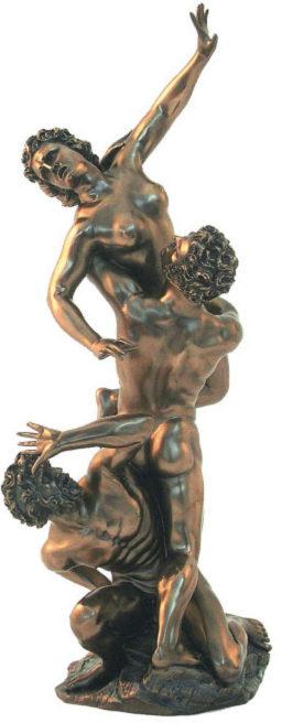 Photo of Abduction of the Sabine Women Bronze Figurine 39 cm