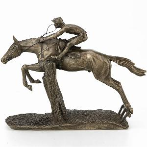 Photo of At Full Stretch Horse Racing Figurine David Geenty Medium