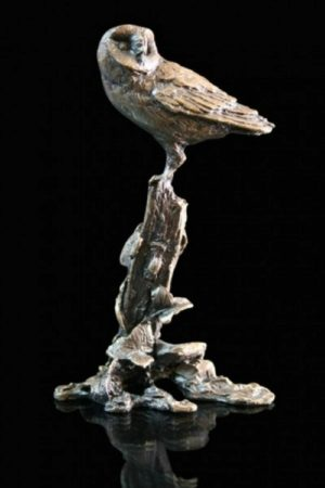 Photo of Barn Owl Bronze Miniature (Butler and Peach)