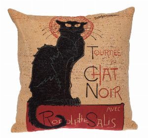 Phot of Chat Noir Tapestry Cushion