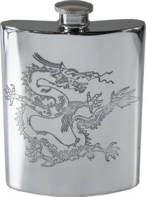 Photo of Chinese Dragon Pewter Hip Flask