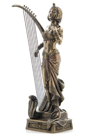 Photo of Cleopatra with Harp Bronze Figure 28 cm