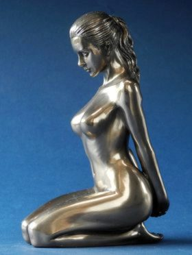 Photo of Composure Bronze Nude Female Figurine