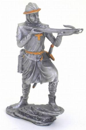 Photo of Crusader with Crossbow Pewter Figurine