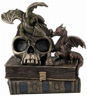 Photo of Dragons of Wisdom Bronze Figurine