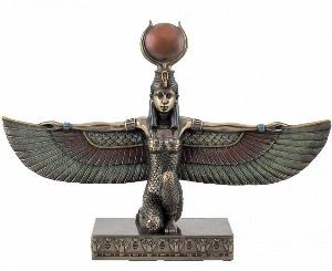 Photo of Egyptian Winged Isis Kneeling Figurine