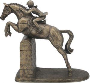 Photo of Female Show Jumper Cold Cast Bronze Sculpture by Harriet Glen
