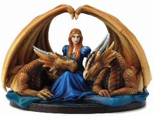 Photo of Fierce Loyalty Figurine (Anne Stokes) Dragons and Lady