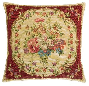 Phot of Flowers Tapestry Cushion I