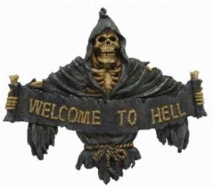 Photo of Gothic Wall Plaque - Welcome to Hell
