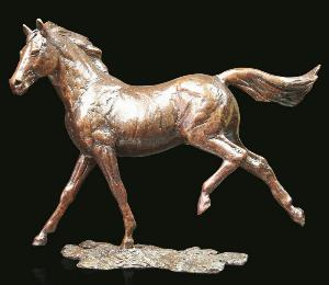 Photo of Grace Solid Bronze Horse Figurine (Limited Edition) Michael Simpson