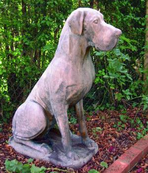 Photo of Great Dane Dog Stone Sculpture Male