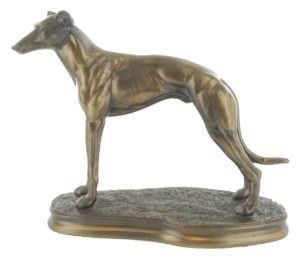 Photo of Greyhound Standing Bronze Sculpture
