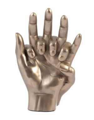 Photo of Hands Entwined Bronze Sculpture