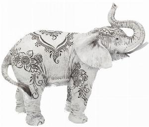 Photo of Henna Decorative Elephant Ornament 22cm