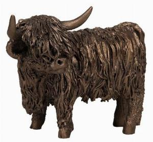 Photo of Highland Cow Standing Bronze Sculpture