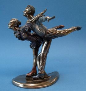 Photo of Ice Skating Bronze Figurine Austrian Waltz