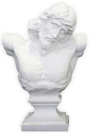 Photo of Jesus Bust Figurine White 25 cm