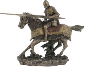 Photo of Jousting Knight Bronze Figurine