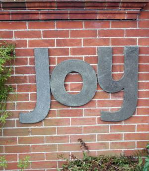 Photo of JOY Wall Plaque (Set of Three Large Stone Letters)
