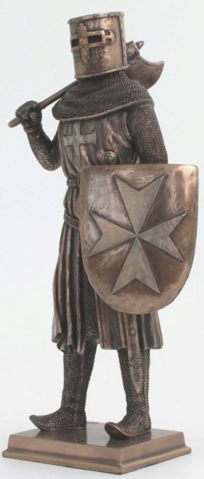Photo of Knight with Sheild and Axe Bronze Figurine 31 cm