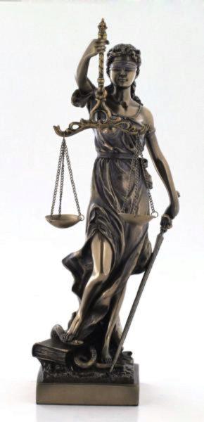 Photo of Lady Justice Bronze Figurine 33 cm