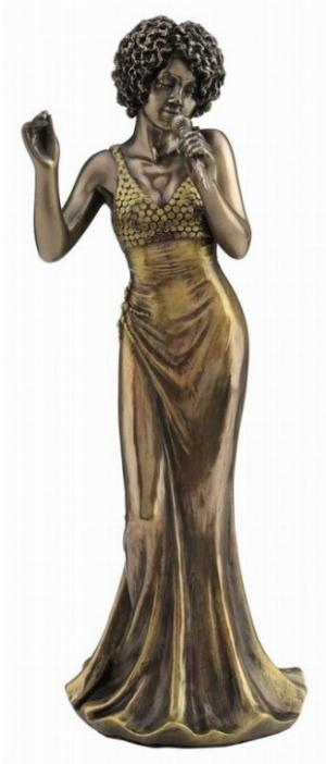 Photo of Lady Singer Jazz Bronze Figurine Small 20 cm