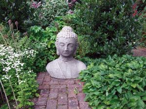 Photo of Large Buddha Bust Stone Sculpture
