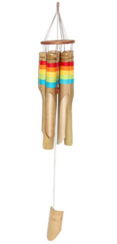 Photo of Large Chunky Rainbow Wind Chime 96cm