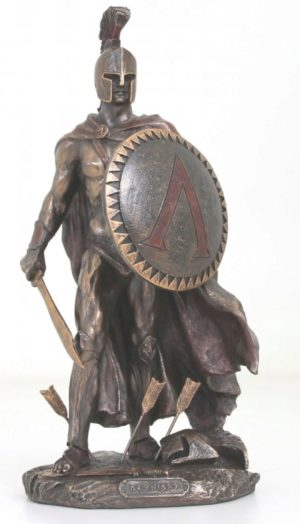 Photo of Leonidas King of Sparta Bronze Figurine 25 cm