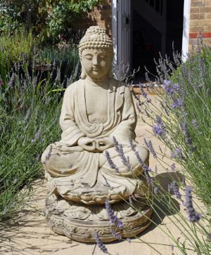 Photo of Lotus Buddha Stone Statue