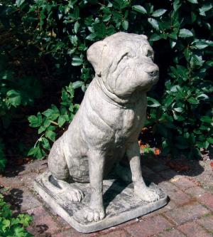 Photo of Mastiff Dog Stone Statue