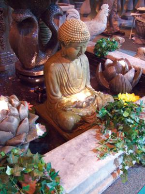 Photo of Meditating Buddha Stone Fountain