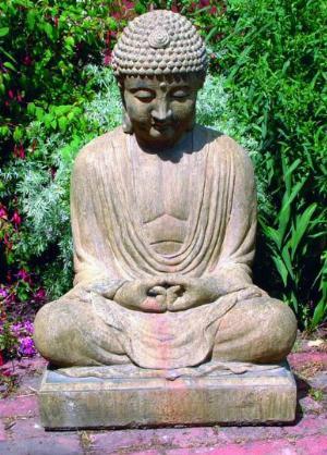 Photo of Meditating Buddha Stone Statue