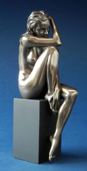 Photo of Mia Nude Female Bronze Figurine on Plinth